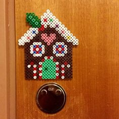 Gingerbread house - Christmas hama beads by randigakatten