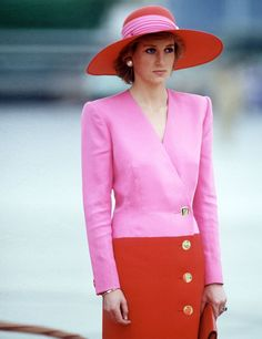 Diana, Princess of Wales fashion moments | ELLE UK - So elegant in suits & large hats