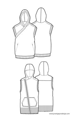 Sleeveless, hooded www.sewingavenue.com