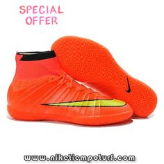 2bd5537f55501 Nike Elastico Superfly IC Red Yellow Men's Football, Football Shoes, Soccer  Shoes, Superfly