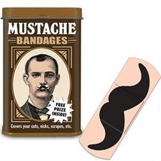 Moustache Plasters from The Great Gift Company