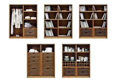 The Frey Armoire features panelled doors, which open to reveal timber-lined interiors. We offer a series of standard internal configurations, including hanging space, shelves and drawers. Modular Shelving, Panel Doors, Front Doors, Drawers, Furniture Design, Shelves, House, Interiors, Space