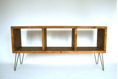 Reclaimed Wood Storage Unit, Handmade Bookcase Unit,Hairpin Legs Attached ,Industrial Look Shelving Unit by LaMaisonDeFurniture on Etsy