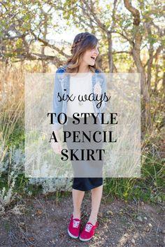 6 ways on how to style a pencil skirt ‖ teacher fashion. everyday fashion. ‖