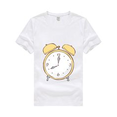 Child Children's Clothing Kids For Boys girls Short-sleeved T-shirt Baby Boy and girl Clothes T-Shirts Modal fabric Alarm clock