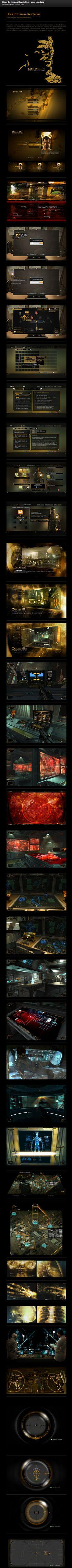 PROJECT BY Eric Bellefeuille http://www.behance.net/gallery/Deus-Ex-Human-Revolution-User-Interface/2465641