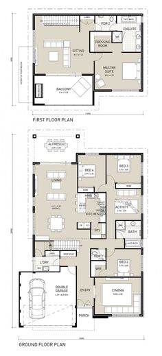 Floor Plan Friday: two storey, four bedroom with private adults wing upstairs