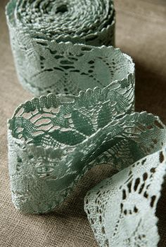 In the wee small hours of the morning. Mint Color, Green Colors, Mint Blue, Verde Vintage, Mint Green Aesthetic, Linens And Lace, Duck Egg Blue, Lace Ribbon, Green Lace