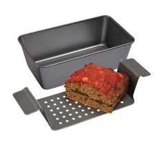 Healthy Meals Chicago Metallic Non-Stick Healthy Meatloaf Baker - Meatloaf Pan, Healthy Meatloaf, Meatloaf Recipes, Burger Recipes, Appetizer Recipes, Ketchup, Southern Meatloaf Recipe, Healthy Cooking, Healthy Recipes