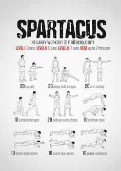 Spartacus Workout on Pinterest | Workout Men, Guy Workouts and Men's ...