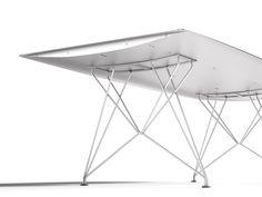 TABLE B Mesa de aluminio by BD Barcelona Design diseño Konstantin ...