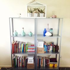 Bedroom Shelving Books Greenhouse Plants Candles Pottery Coral