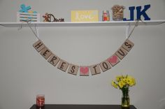 Heres to us  Engagement  / Wedding banner by JKreations2013, $16.50