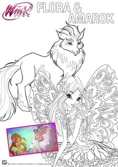 Gifts Winx Club Flora Coloring Presents Favors Plants Gifs