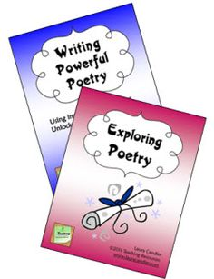 "Powerful Poetry Combo - Two mini units from Laura Candler's Teaching Resources. You can preview the complete ebooks from this page. These teaching packets include step-by-step lessons and printables to introduce your students to poetry and to create a ""poetry workshop"" in your classroom. $"
