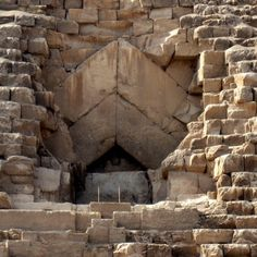 The Entrance of the Great Pyramid of Giza near #Cairo