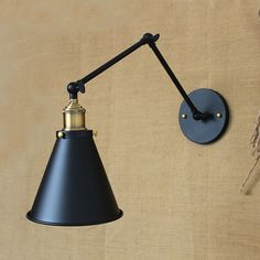 (31.50$)  Know more  - two swing arm Wall Lamp Modern Industrial wall light Adjustable Handle Metal Rustic vintage Loft Wall Scone Lamps For Cafe  Bar