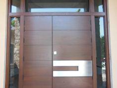 wp_123 Wooden Double Doors, Double Front Doors, Double Doors Exterior, Frederic, Contemporary Doors, Delray Beach, Wood Doors, Outdoor Decor, Home Decor