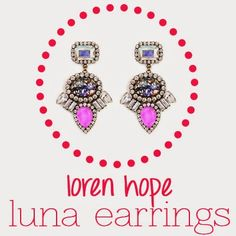 Luna Earrings from Loren Hope are backstage pass worthy, sporting the color of the year #radiantorchid in a super fresh way