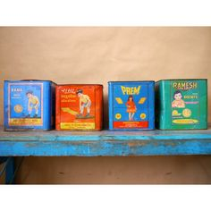 Indian Tins - Pedlars Friday Vintage - Pedlars Vintage
