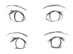 drawing of the eyes..