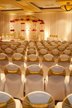 marriage hall...want names of the bride and groom at the back of the chairs <3