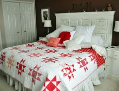 Beautiful red and white Ohio Star