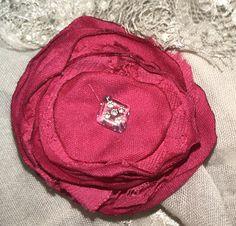 Fuchsia Pink Flower clip