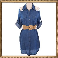 Denim  Lace Dress. Cowgirl Style. The Lucky Cowgirl Shop. #ATBxPBFashionRoundup