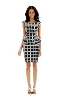worthington peplum dress - @Nina Garcia's must haves