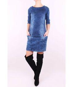 Štýlové rifľové šaty