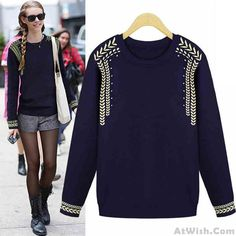 Wow~ Awesome Thick College Jacquard Knit Sweater! It only $41.99 at www.AtWish.com! I like it so much<3<3!