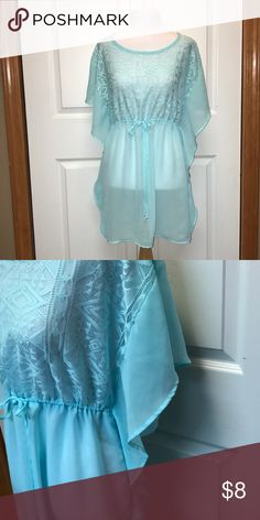 Swimsuit cover Sheer teal swimsuit cover Xhilaration Swim Coverups