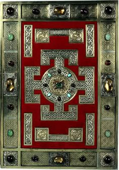 The Lindisfarne Gospels.  This Online Gallery shows 32 illuminated pages from the manuscript. One of the most magnificent manuscripts of the early Middle Ages, it was written and decorated at the end of the 7th century by the monk Eadfrith, who became Bishop of Lindisfarne in 698 and died in 721.
