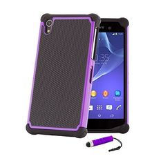 32nd® Shock proof defender heavy duty dual case cover for Sony Xperia Z2 + screen protector, cleaning cloth and touch stylus - Purple, http://www.amazon.ca/dp/B00LB901EY/ref=cm_sw_r_pi_awdl_MAI6wbYEMCW6K