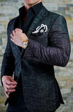S by Sebastian Tourmaline Altezza Jacket Blazer Outfits Men, Mens Fashion Blazer, Mens Fashion Wear, Stylish Mens Outfits, Suit Fashion, Fall Outfits, Work Outfits, All Black Suit, Moda Formal