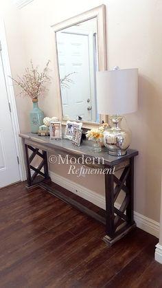 mesa de entrada de casa de campo rústica mesa por ModernRefinement