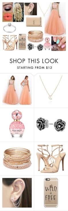 """""""Masked Ball #7"""" by cysiaa-verdas-089 ❤ liked on Polyvore featuring Astrid & Miyu, Marc Jacobs, Bling Jewelry, Red Camel, Schutz, Otis Jaxon, Casetify and Yves Saint Laurent"""