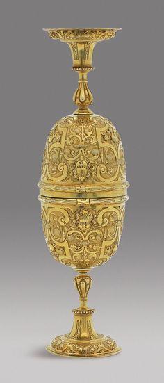 Balduin Drentwett ~ German silver gilt double cup ~ Augsburg ~1600