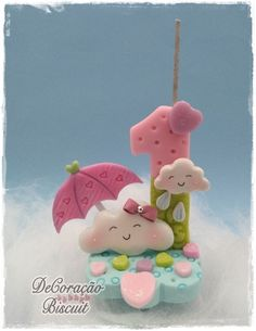 Chuva de Amor - Biscuit Clay Crafts, Diy And Crafts, Unicorn Bed Set, Ballerina Cakes, Love Rain, Fondant Toppers, Fondant Figures, Cake Decorating Tips, Cold Porcelain