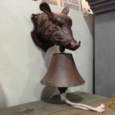 Cast Iron Wild Boar Bell