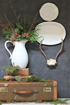 Restoration House Interiors: Simple Holiday Vignette