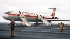 Eine sowjetische Iljuschin 62 der DDR-Luftlinie Interflug. Foto: picture-alliance/ dpa