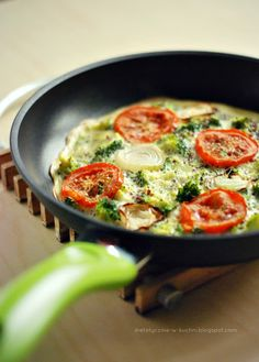 Moje Dietetyczne Fanaberie: Omlet z komosą ryżową i warzywami oraz KONKURS!