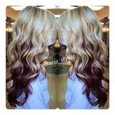 Burgundy Hair with Blonde Underneath - Bing Images
