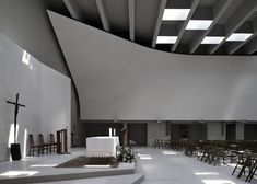 """""""Christ's resurrection"""" Church, Sesto S. Giovanni (Milan) 2004-2010 Cino Zucchi Architetti with Zucchi & Partners. The new church and parish center is located in a narrow plot of Milan's industrial periphery."""