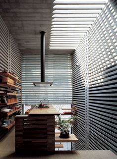 Interesting architectural detailing creates unique light and shadows