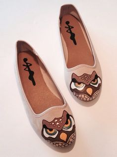 A personal favorite from my Etsy shop https://www.etsy.com/ie/listing/265802038/owl-shoes