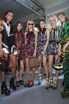 Backstage at #Versace Women's Spring Summer 2016 show.