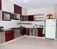 l shaped modular kitchen designs catalogue - Google Search